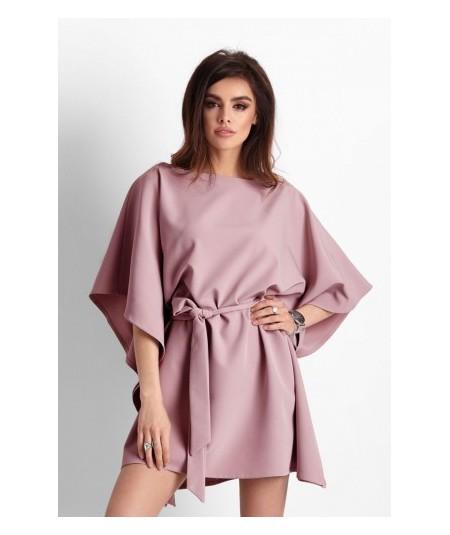Ciemno różowa sukienka o kroju nietoperza Lotta