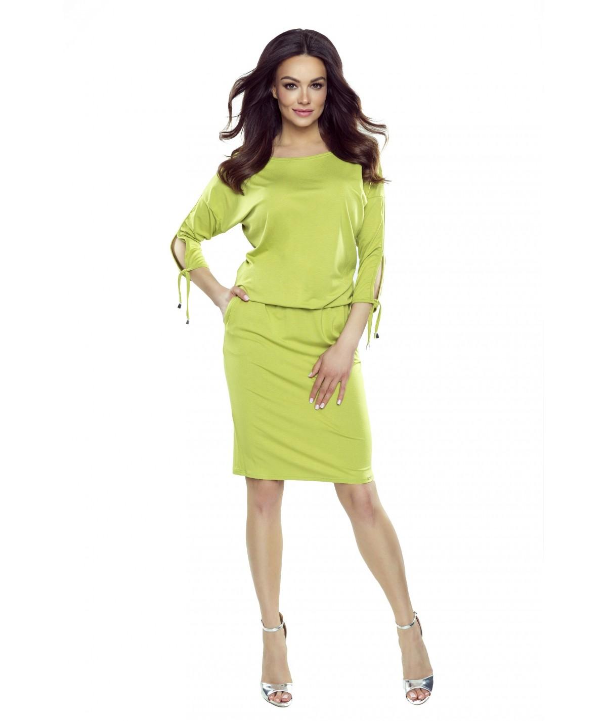 Limonkowa sukienka dzienna venus - bergamo