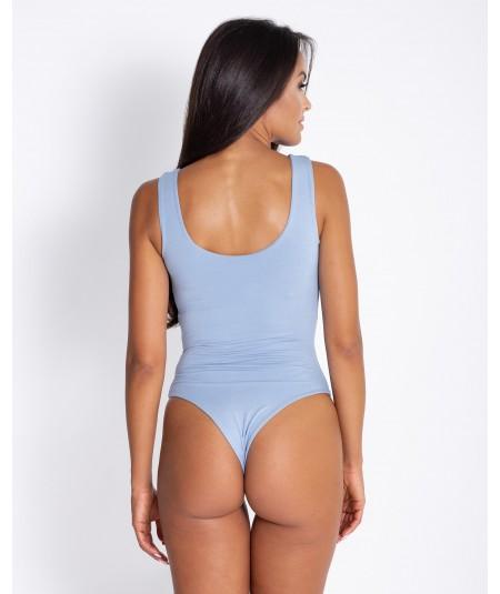 gładkie niebieskie body damskie - dursi