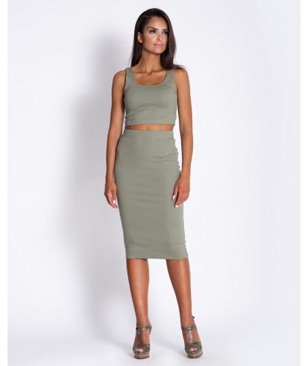 Komplet spódnica + top - Dursi khaki