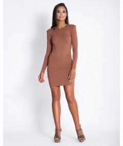 Cynamonowa sukienka dzienna marki dursi