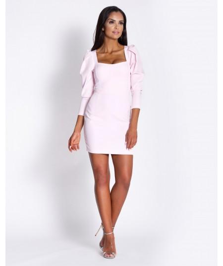 Różowa sukienka na wesele - Dursi Banny
