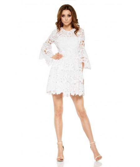 Koronkowa sukienka ecru - Lemoniade L262