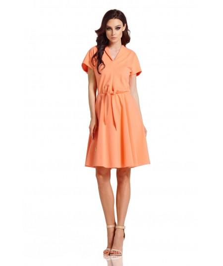 Dresowa dzienna sukienka - Lemoniade L293 morela