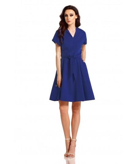 Granatowa dzienna sukienka - lemoniade L293