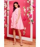 Rózowa sukienka z falbankami - Lemoniade L298