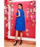 Chabrowa luźna sukienka z falbankami - Lemoniade L298