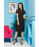 Czarna sukienka z szyfonem - Lemoniade L299