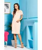 Łososiowa sukienka na wesele - Lemoniade L299