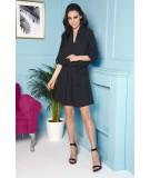 Czarna koszulowa sukienka - lemoniade L300
