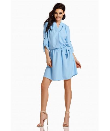 błękitna sukienka koszulowa - lemoniade l300