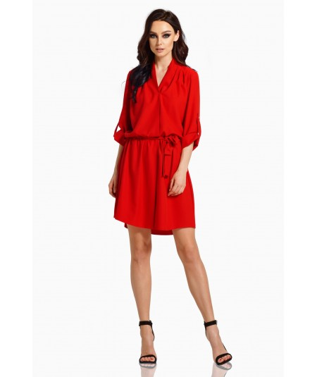 Czerwona koszulowa sukienka - Lemoniade L300