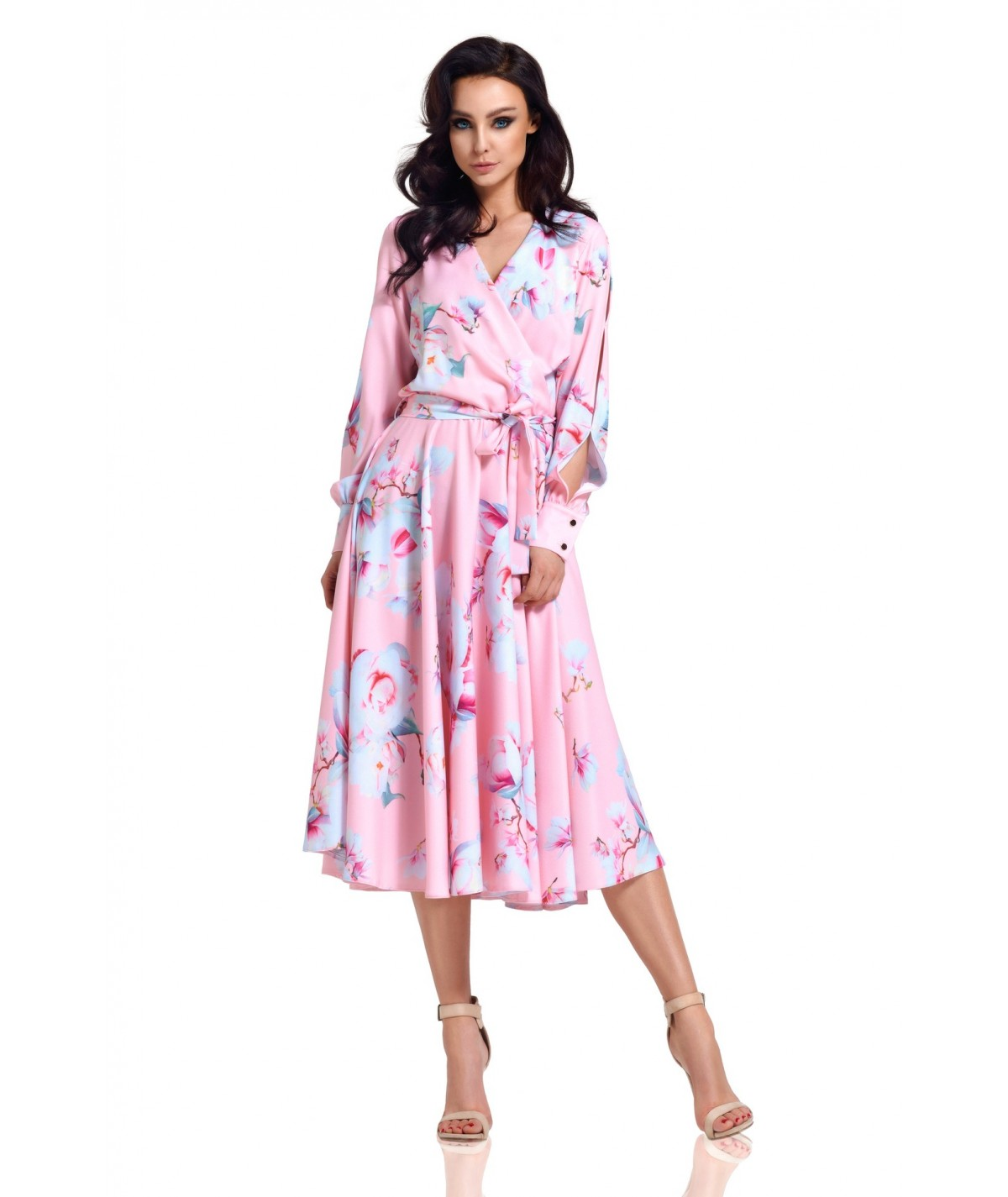 Rozkloszowan sukienka Midi - Lemoniade L302