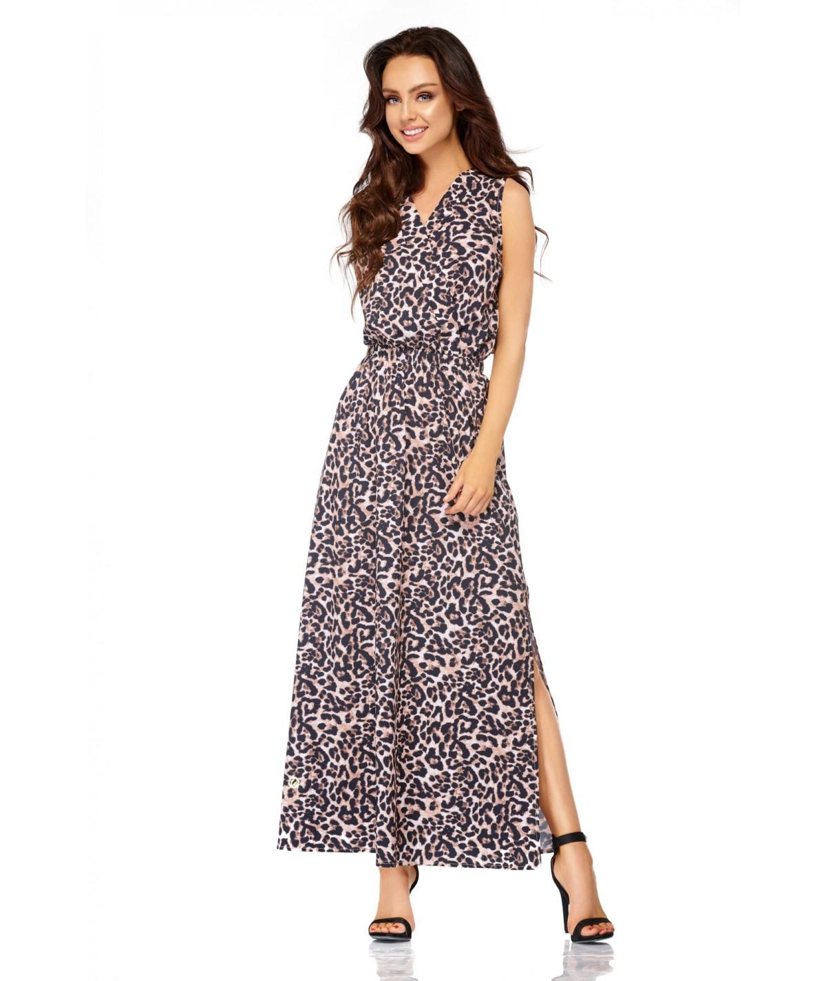 Sukienka MAXI w panterkę - Lemonide L304