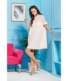 Oversizowa sukienka purdowy róż - Lemoniade L307