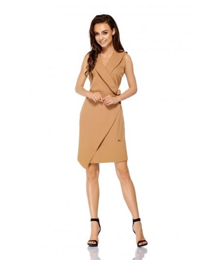 kopertowa sukienka karmelowa L308 lemoniade