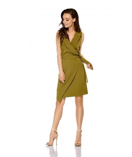 Kopertowa sukienka khaki model L308- lemoniade