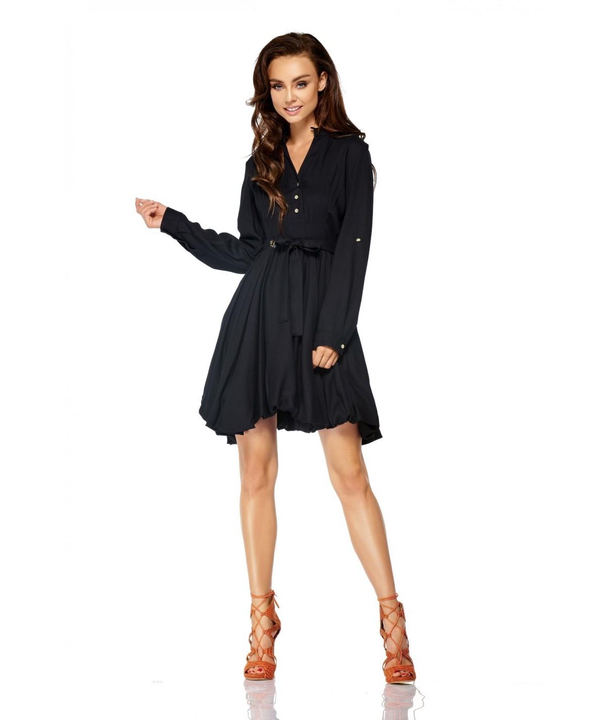 Czarna lekka sukienka - Lemoniade