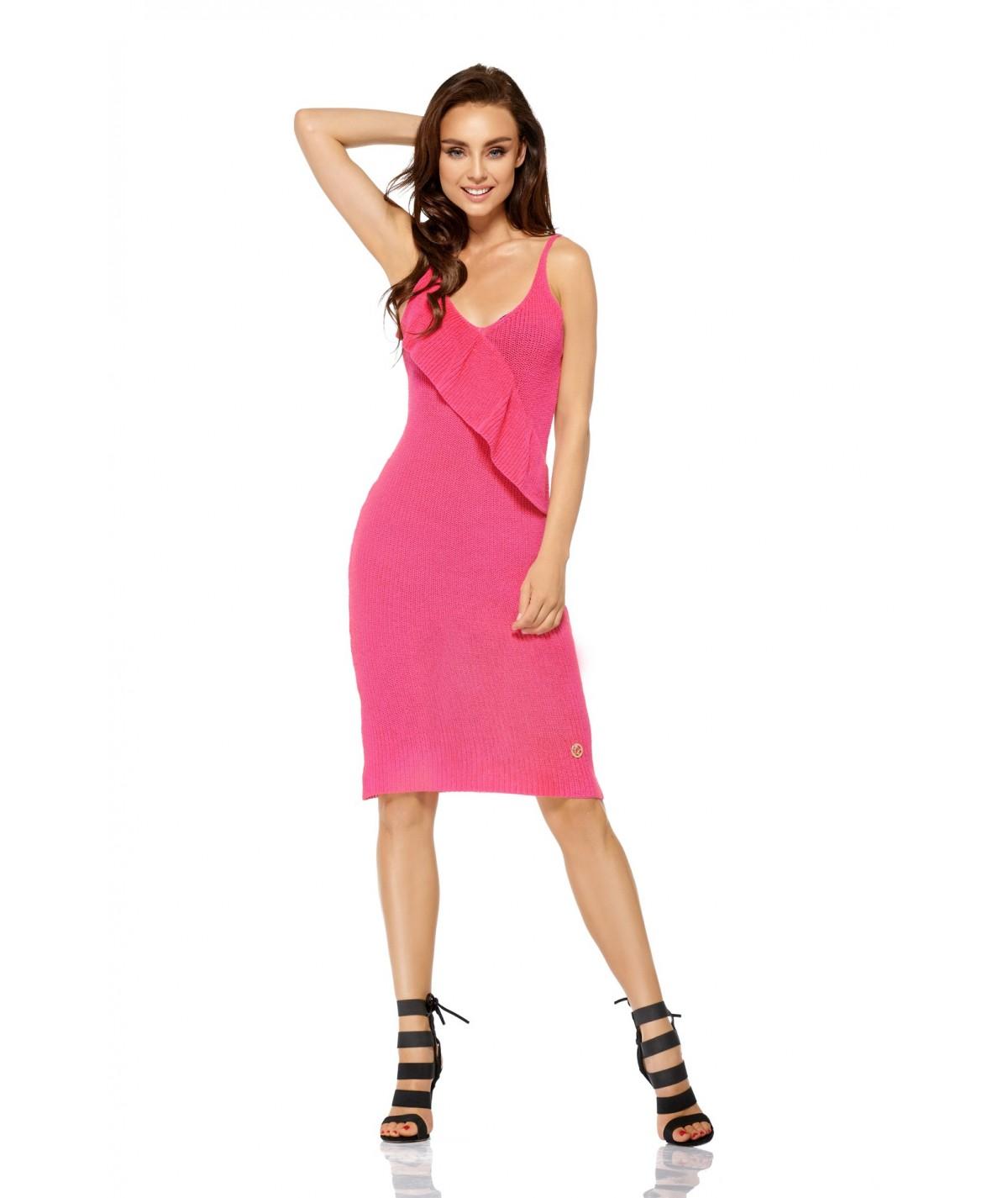 Sukienka na plażę - lemoniade fuksja - LSG102