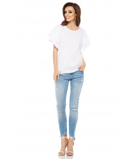 biała bluzka z falbankami - lemoniade