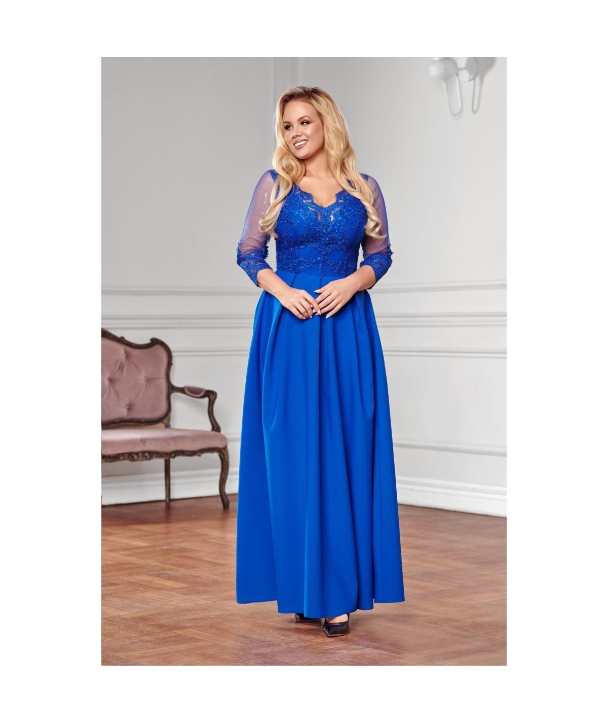 Chabrowa suknia MAXI - Bicotone A201