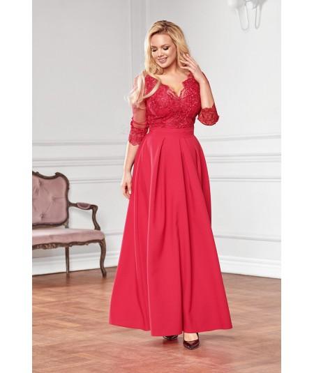 Suknia maxi w kolorze fuksji - Bicotone A201