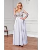 Szara suknia Maxi - Bicotone A201