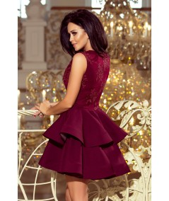 Ekskluzywna sukienka CHARLOTTE - bordo Numoco