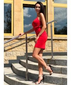 Czerwona dopasowana sukienka Dursi Famiro