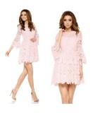 Rózowa koronkowa sukienka - Lemoniade L262