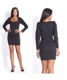 czarna sukienka z bufiastymi rękawami - Dursi