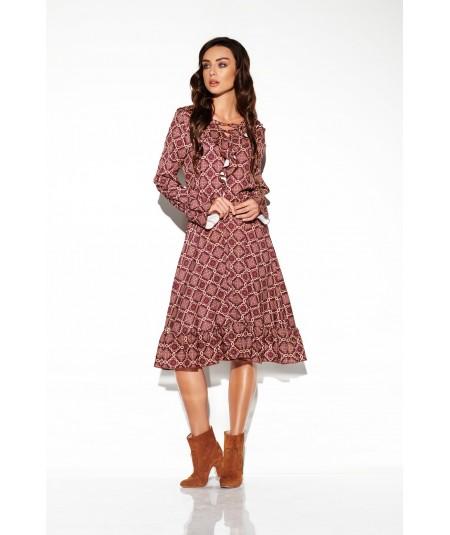 krotka sukienka z printem - lemoniade