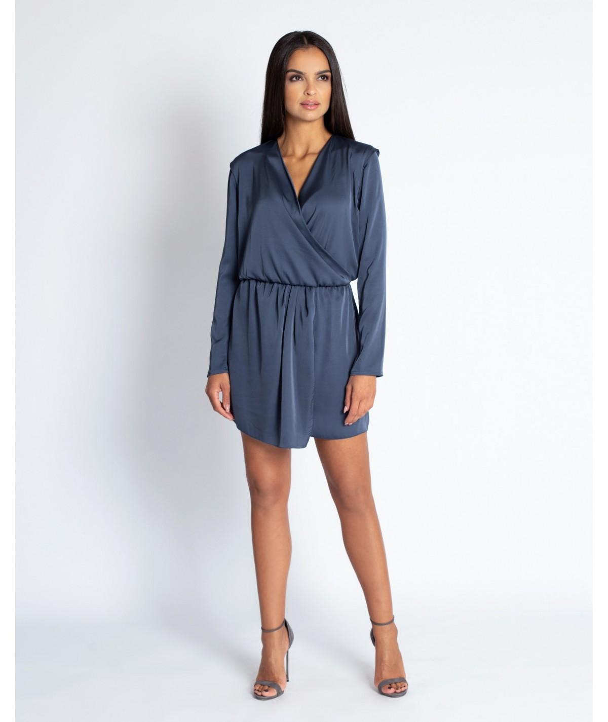 satynowa krótka sukienka dursi