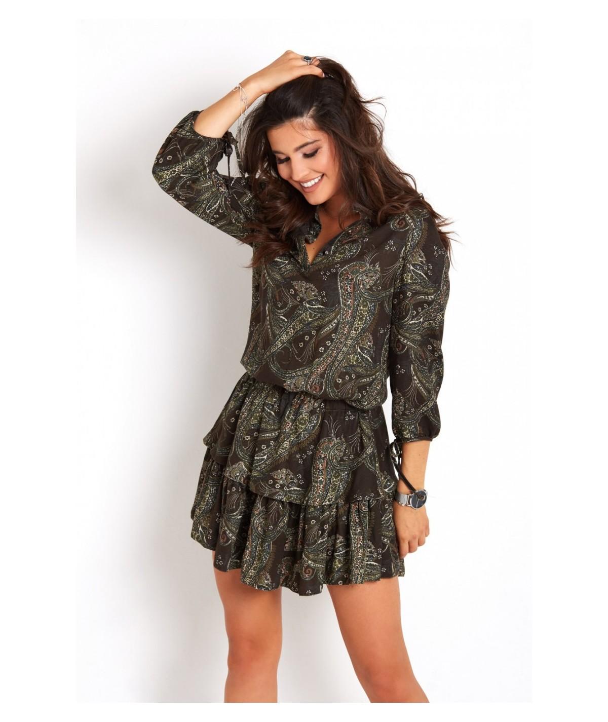 dzienna sukienka we wzór paisley - IVON
