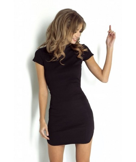 dzienna sukienka latika czarna marki IVON