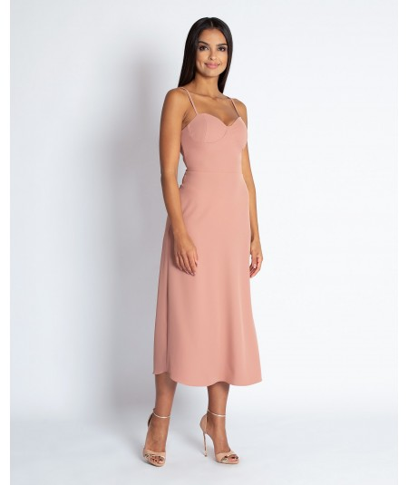 Rózowa sukienka midi nail marka dursi