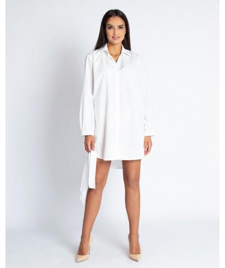 Biała koszulowa sukienka Celin - Dursi