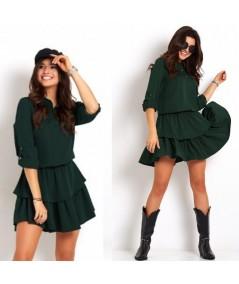 zielona dzienna sukienka sportowa IVON