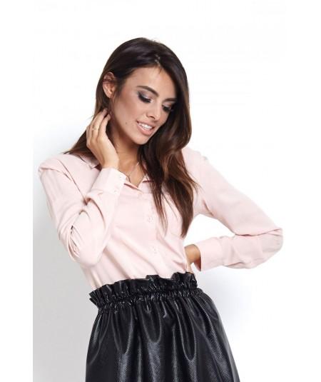 Różowa elegancka koszula damska Slim FIT - Melanie