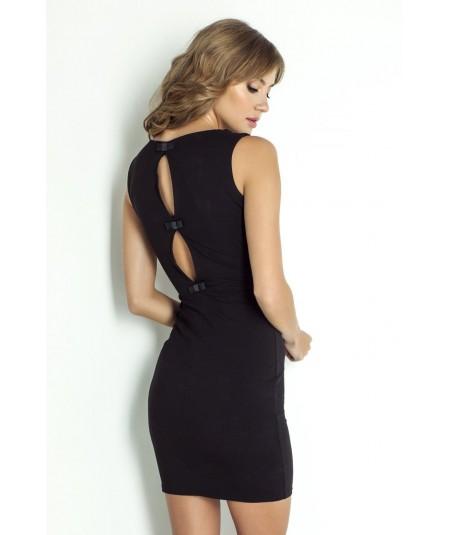 Czarna dopasowana sukienka CATHERINE - IVON