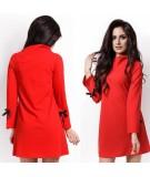 Trapezowa sukienka w kolorze czerwonym