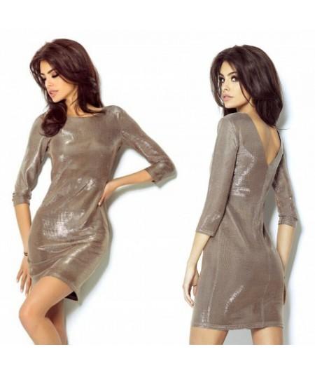 złota sukienka marki ivon