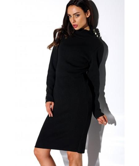 czarna swetrowa sukienka lemoniade z golfem LS271