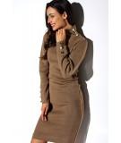 brązowa sukienka z golfem lemoniade LS271