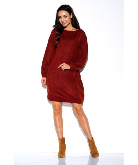 miedziana, swetrkowa sukienka lemoniade LSG117