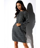 prosta swetrowa sukienka lemoniade LSG117
