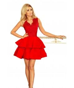 Ekskluzywna sukienka CHARLOTTE - czerwona numoco