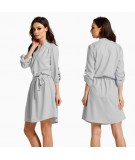 koszulowa sukienka dzienna - Lemoniade L300