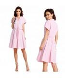Dzienna różowa sukienka - Lemoniade L293