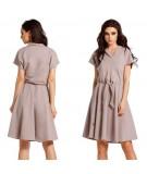 Bezowa sukienka dzienna - Lemoniade L293